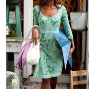 Boden Smart Knitted Dress Floral Sz US 8R